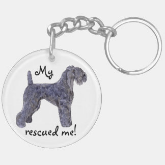 Rescue Kerry Blue Key Ring