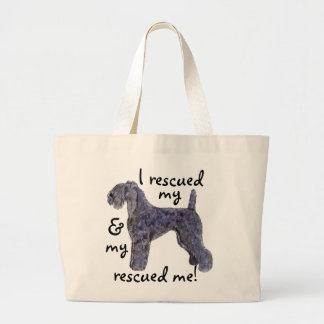 Rescue Kerry Blue Large Tote Bag
