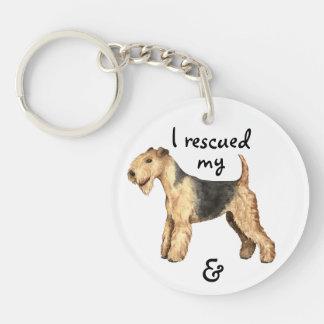 Rescue Lakeland Terrier Key Ring