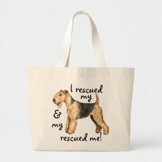 Rescue Lakeland Terrier Large Tote Bag