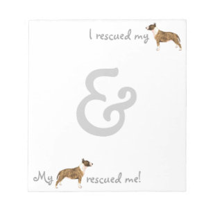 Rescue Miniature Bull Terrier Notepad