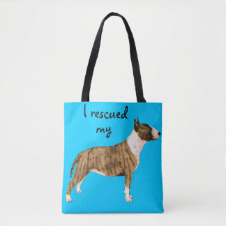 Rescue Miniature Bull Terrier Tote Bag