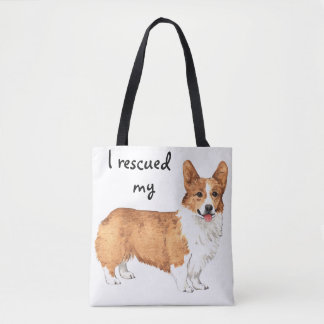 Rescue Pembroke Welsh Corgi Tote Bag