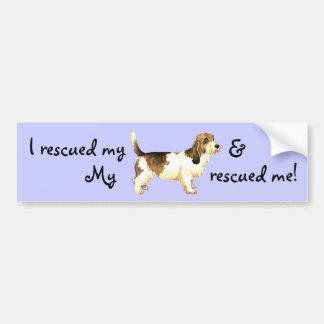 Rescue Petit Basset Griffon Vendéen Car Bumper Sticker