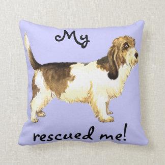 Rescue Petit Basset Griffon Vendéen Throw Cushion