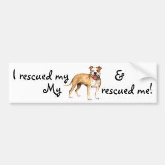 Rescue Pit Bull Terrier Bumper Sticker