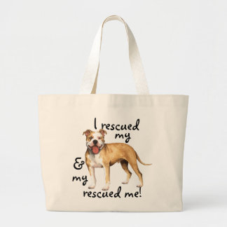 Rescue Pit Bull Terrier Jumbo Tote Bag