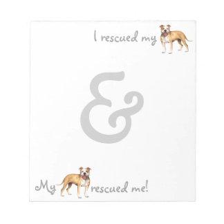 Rescue Pit Bull Terrier Memo Pads