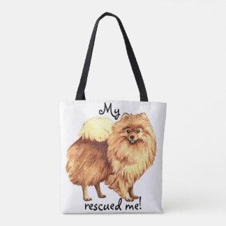 Rescue Pomeranian Tote Bag