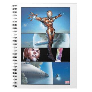 Rescue Saving Plane Spiral Notebook