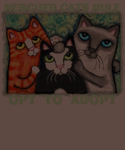 Rescue / Shelter Cat Adoption T-Shirt