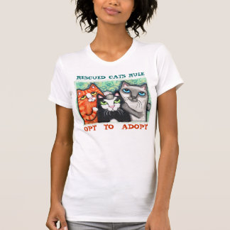 Rescue Shelter Cat Lover s Adoption T-Shirt