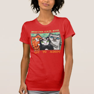 Rescue Shelter Cats Cat Lover T-Shirt