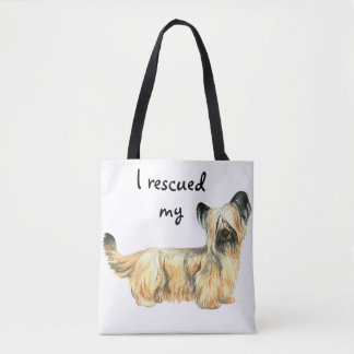 Rescue Skye Terrier Tote Bag