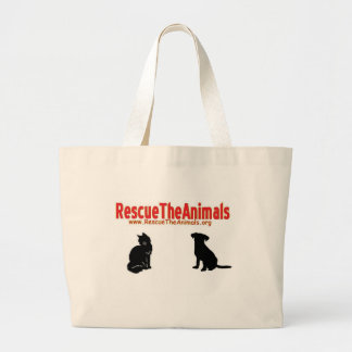 Rescue The Animals non-apperal Jumbo Tote Bag