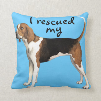 Rescue Treeing Walker Coonhound Cushion