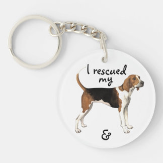 Rescue Treeing Walker Coonhound Key Ring