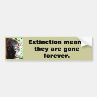 Rescue Wildlife from Extinction Bumper Sticker