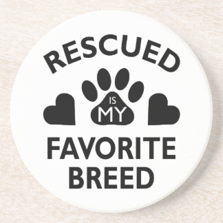 Rescued Breed Drink Coaster