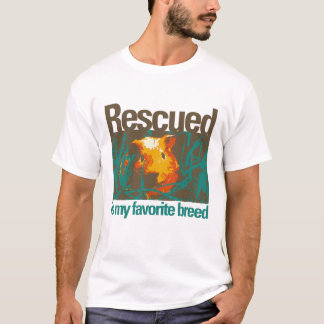 Rescued is my favorite Breed - Guinea Pig Today T-Shirt
