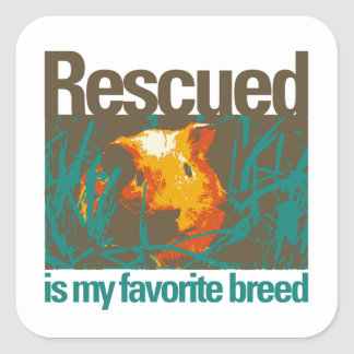 Rescued is my favorite Breed, Sticker