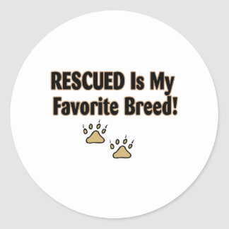 Rescued Is My Favorite Breed Stickers