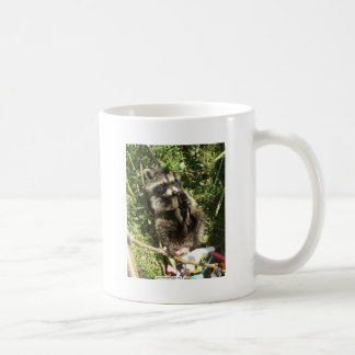 Rescued & Rehabilitated Raccoon Baby Basic White Mug