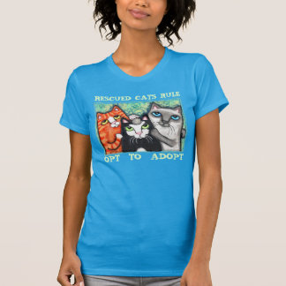 Rescued Shelter Cat Art Adoption T-Shirt
