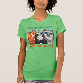 Rescued Shelter Cat s Cat Lover T-Shirt