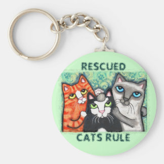 Rescued / Shelter Cat's Key Ring