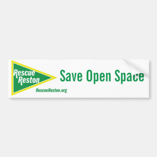RescueReston Bumper Sticker - Save Open Space