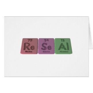 Reseal-Re-Se-Al-Rhenium-Selenium-Aluminium png Cards