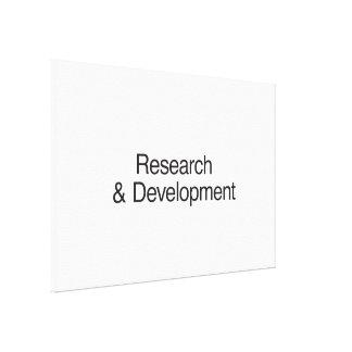 Research Development Canvas Print