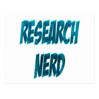 Research Nerd Blue Postcard