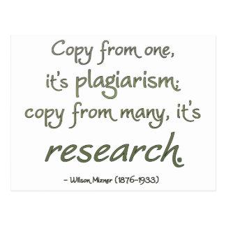 Research or Plagiarism? Postcard