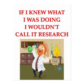 research postcard