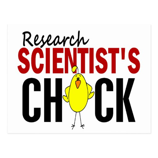 RESEARCH SCIENTIST'S CHICK POSTCARD