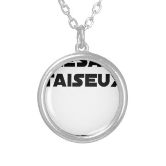 RESEARCH STUDENT TAISEUX - Word games - François Silver Plated Necklace