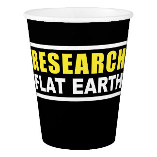 #RESEARCHFLATEARTH Black Paper Cup