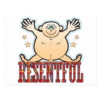 Resentful Fat Man Postcard