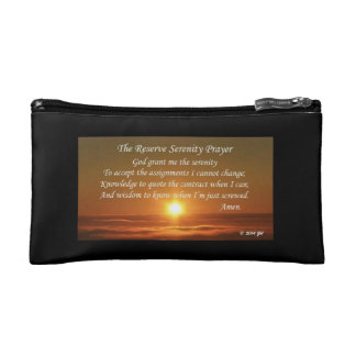 Reserve Serenity Prayer Zipper Pouch Cosmetic Bags
