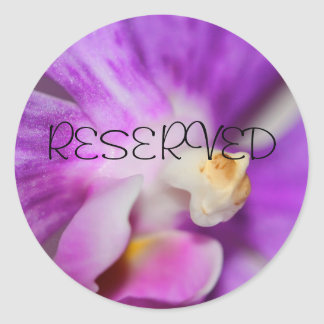 RESERVED CLASSIC ROUND STICKER