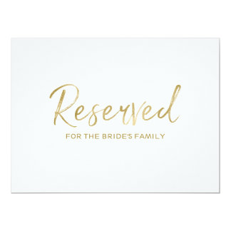 """Reserved"" for Family Sign 