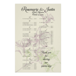 ***RESERVED*** for Rosemarie+Justin Poster