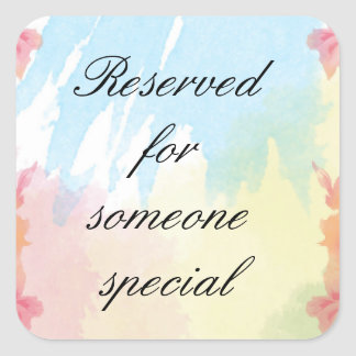 Reserved For Someone Special Stickers