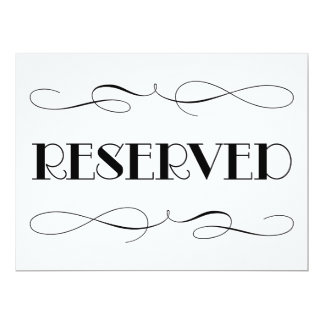Reserved Seating | Wedding Sign Card