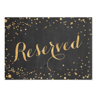 Reserved Wedding Sign, Card