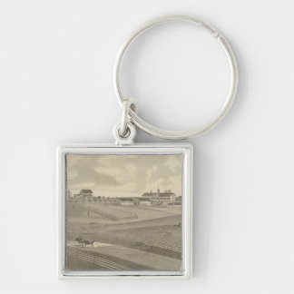 Residence, Minnesota Silver-Colored Square Key Ring