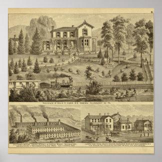 Residence of David R Kerr Poster
