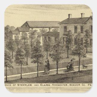 Residence of Steffler and Clark, Rochester Square Sticker